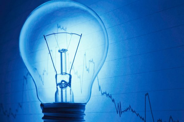 Bulb with business background showing concept of a successful  idea